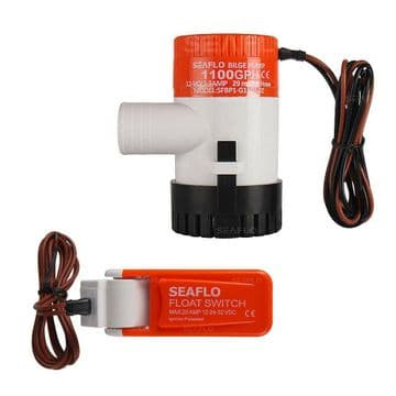SEAFLO 24v 1100GPH SUBMERSIBLE MARINE BILGE PUMP WITH AUTO FLOAT SWITCH rohs iso